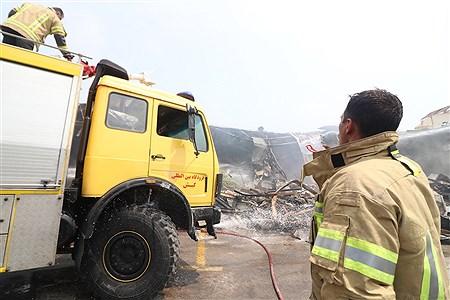 آتش سوزی بازار پردیس کیش | Amir Hossein Yeganeh