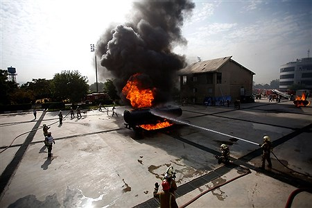 مراسم رونمایی از تجهیزات جدید سازمان آتشنشانی و بهره برداری از ایستگاه ۱۳۲ سازمان آتش نشانی | Bahman Sadeghi