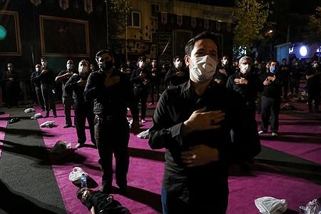 مراسم عزاداری شب تاسوعای حسینی (ع) در میدان فلسطین | Behrooz Khalili
