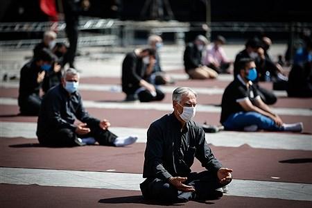 عزاداری تاسوعای حسینی در میدان امام حسین (ع) | Ali Sharifzade