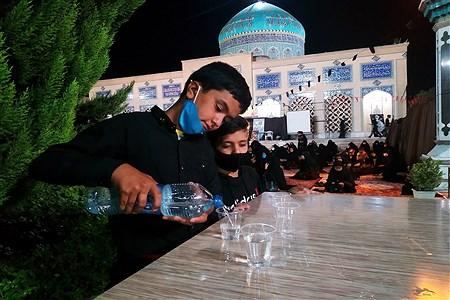 ریختن آب در لیوان های یکبار مصرف برای زائرین با رعایت پروتکل های بهداشتی | MojtabaSahebzamani