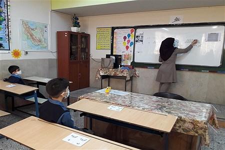 حضور دانش آموزان  منطقه 13 در کلاس درس | samadi