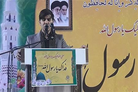 تجمع  اعتراضی مردم اهواز درمحکومیت اهانت به پیامبر اکرم (ص) |