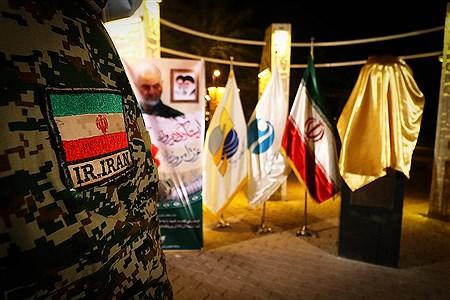 رونمایی از سردیس شهید حاج قاسم سلیمانی  در جزیره کیش   Amir Hossein Yeganeh