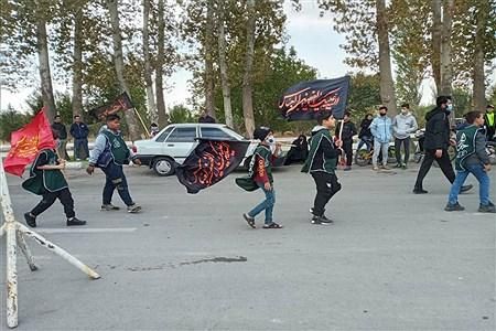 مراسم نمادین جاماندگان اربعین حسینی در گلزارشهدای شهرستان ملارد | Zahra Einabady