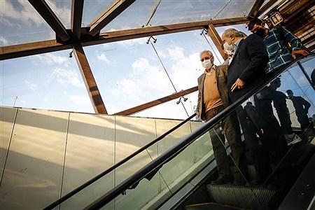 بازدید سخنگوی دولت از طرح استفاده اجباری ماسک در مترو | Ali Sharifzade