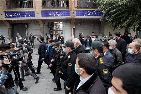 حضور رئیس پلیس پایتخت در بازار بزرگ تهران   Bahman Sadeghi