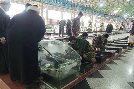 گلباران و عطر افشانی مزار شهدا شهرستان ملارد به مناسبت هفته بسیج  | Sahar sheikhi