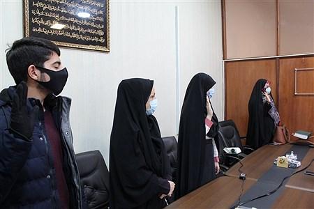 تحلیف اعضای هیئت رئیسه مجلس دانش آموزی شهرستان محمودآباد | Pana