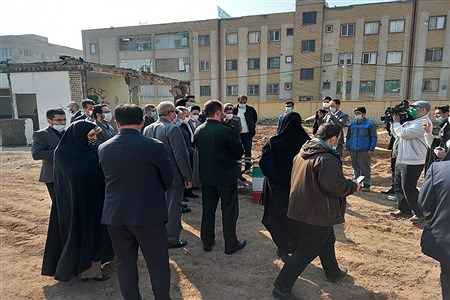 برگزاری مراسم خشتگذاری مدرسه جوادالائمه خاورشهر، همزمان با ایام مبارک دهه فجر |