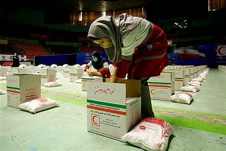 آیین توزیع ۳۰ هزار بسته معیشتی هلال احمر | Behrooz Khalili