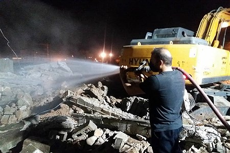 کشته شدن۲ نفر  براثر آتش سوزی و ریزش اوار در اهواز  | Sajad Shamakhteh