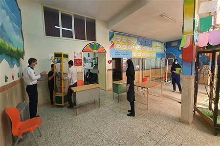 آمادهسازی محل واکسیناسیون فرهنگیان در شهرستان بهارستان   Reza Nikjoo