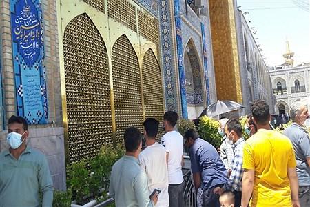رعایت دستورالعملهای بهداشتی زائرین، در حرم مطهر امام رضا(ع)مشهد مقدس  | Abolfazl Moadab