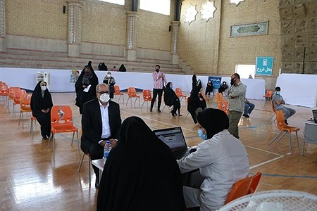 واکسیناسیون فرهنگیان ناحیه یک شهرری با حضور مدیر آموزش و پرورش ناحیه | AHMAD NOKHODIAN
