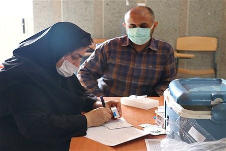 واکسیناسیون فرهنگیان شهرستان امیدیه | Ellahe yousefi makvandi
