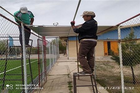 تکمیل شدن کارهای  مجموعه ورزشی چمن ورزشی شهرستان خلیل آباد  | Abolfazl Moadab
