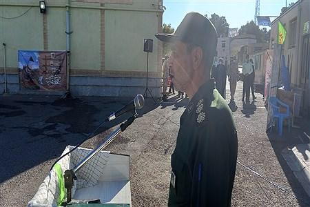 همزمان با ایام دفاع مقدس و فرارسیدن مهر ماه برگزاری صبحگاه مشترک در محل آموزش و پرورش با حضور مسئولین، فرهنگیان و بسیجیان برگزار شد   Abilfazl Moadab