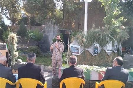 برگزاری مراسم گرامیداشت شهدا در اداره آموزش و پرورش ملارد |