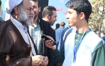 حضور پرشور جوانان و نوجوانان در راهپیمایی بیست و دوم بهمن 96